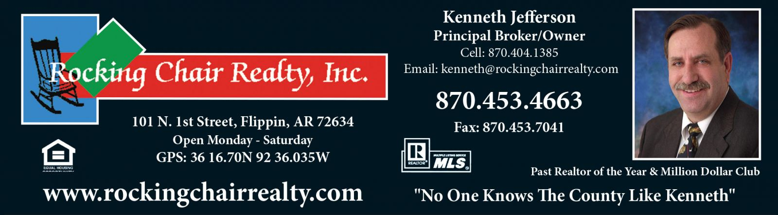 Rocking Chair Realty, Inc � Kenneth Jefferson, Principal Broker/Owner � Flippin, AR Real Estate