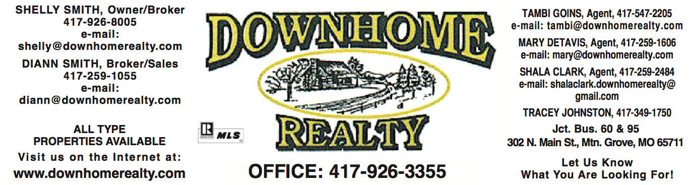 Down Home Realty � Shelly Smith, Broker/Owner � Mountain Grove, MO Real Estate