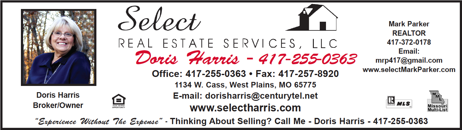 Select Real Estate Services, LLC � Doris Harris, Broker � West Plains, MO Real Estate