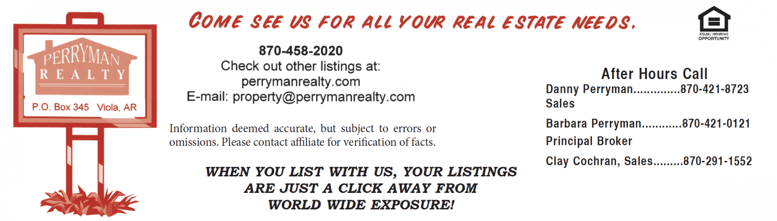 Perryman Realty � Viola, AR Real Estate