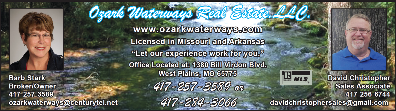 Ozark Waterways Real Estate, LLC � Barb Stark, Broker/Owner � West Plains, MO Real Estate