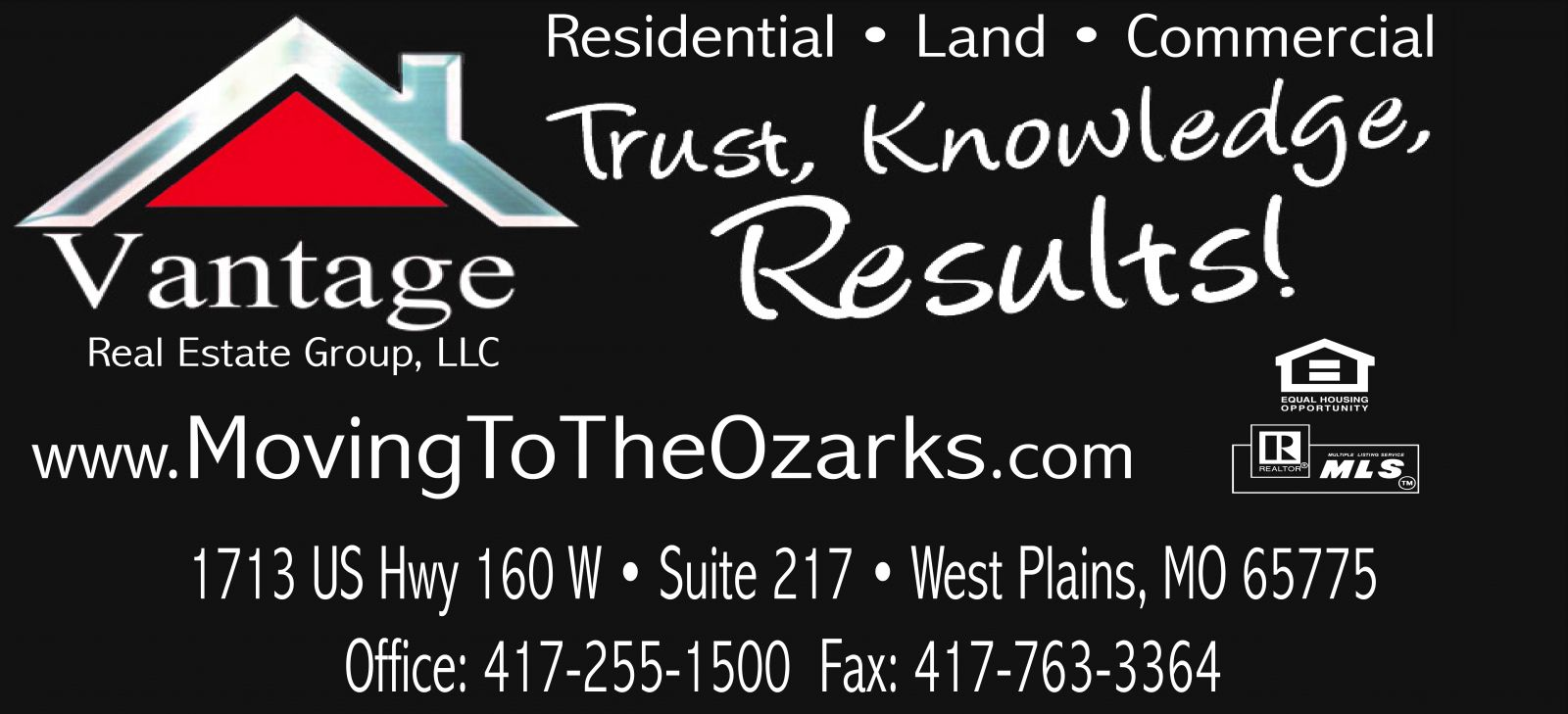 Vantage Real Estate Group, LLC. � Tina Jones, Co-owner/Broker & Hedi Rader, Co-owner/Realtor � West Plains, MO Real Estate
